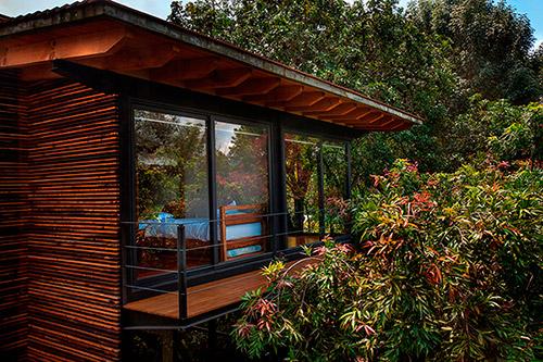 Мексиканские деревянные виллы в диком саду
